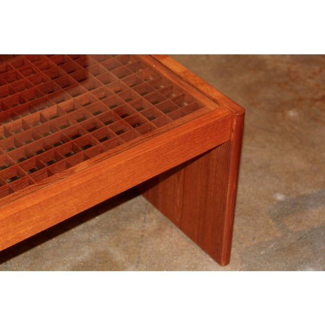 Artisan Craft Made Lattice Top Coffee Table For Sale In Palm Springs - Image 6 of 10