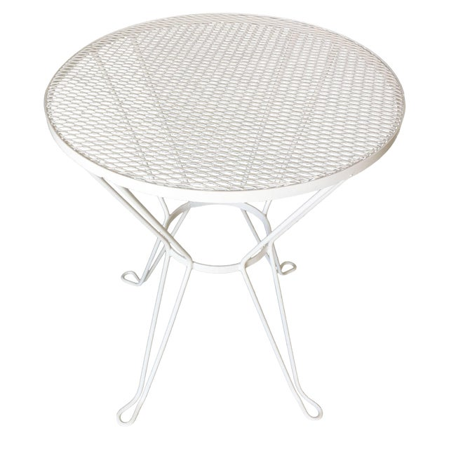 Woodard Round Mesh Steel Outdoor Patio Side Table Circa 1950 Chairish