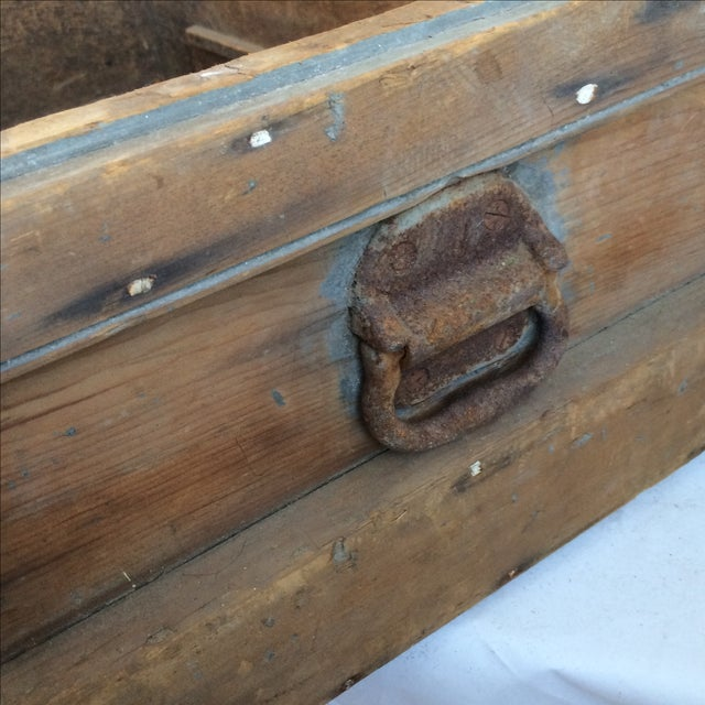 Rustic Pine Wood Sea Chest - Image 5 of 11