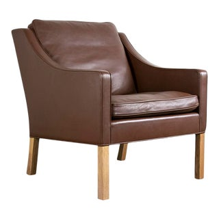 Authentic Børge Mogensen for Fredericia Model 2207 Easy Chair For Sale