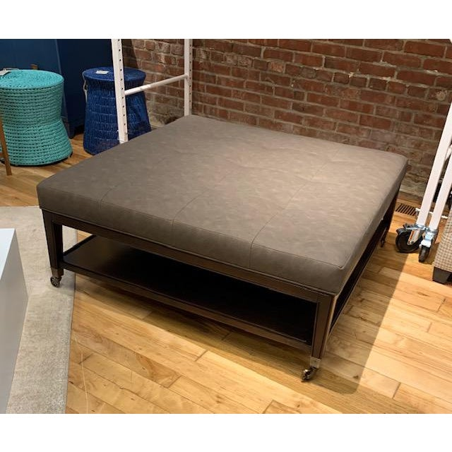 2010s Tucker Ottoman From Vanguard Furniture For Sale - Image 5 of 6
