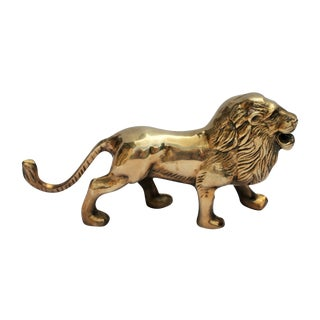 Vintage Brass Lion For Sale