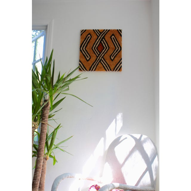 Mounted Vintage Kuba Cloth Wall Hanging For Sale In Los Angeles - Image 6 of 8