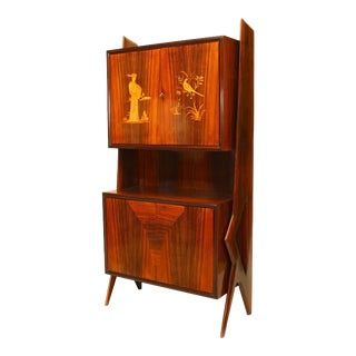 1950s Mid-Century Modern Rosewood Cabinet For Sale
