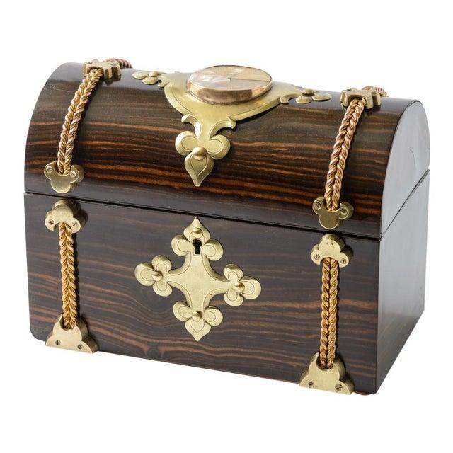Gold Coromandel Wood Box For Sale - Image 8 of 8