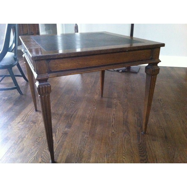 Tomlinson Leather Top Game Table - Image 3 of 6