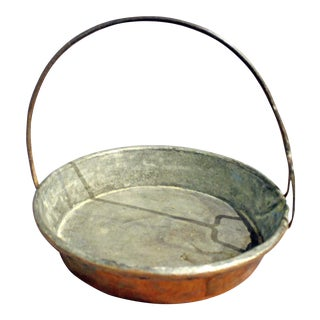 Mid 19th Century French Copper Hanging Pan For Sale