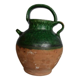 Small 19th Century Green Glazed Jug For Sale