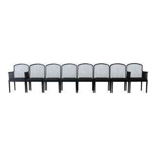 Stendig Andover Black Spindle Dining Chairs - Set of 8