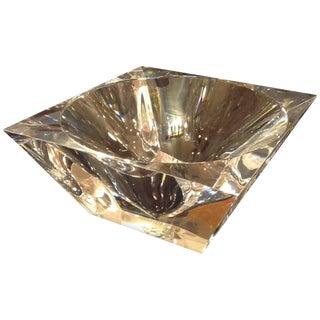 Modernistic Lucite Diamond Bowl For Sale