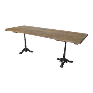 Bleached Oak Paris Bistro Dining Table For Sale