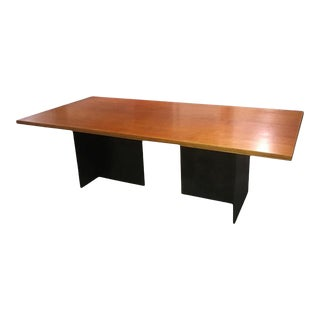 Contemporary Blackened Stainless Steel and Birch Dining Table by Scott Gordon For Sale
