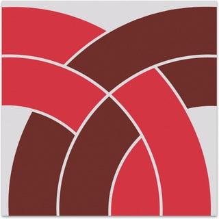 "Red ""Arch"" Vintage Mid-Century 1970s Supergraphic"