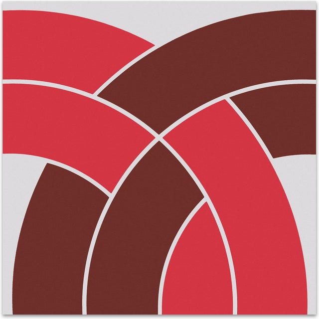 """Red """"Arch"""" Vintage Mid-Century 1970s Supergraphic - Image 1 of 3"""