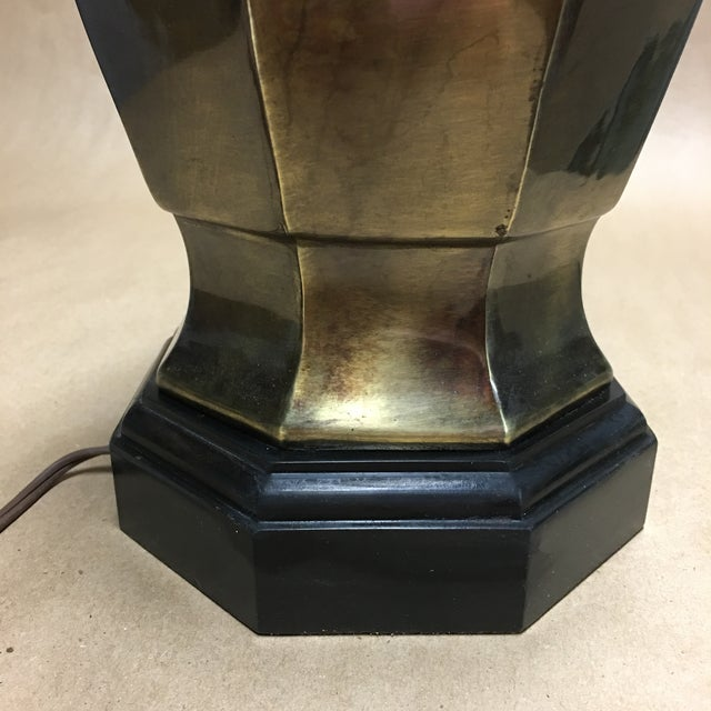 1950s 1950s Frederick Cooper Brass Ginger Jar Table Lamp For Sale - Image 5 of 8
