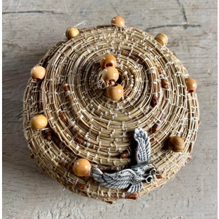 Handmade Pine Needle Basket, Vintage Preview