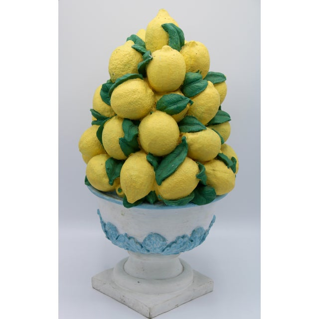 Resin Tall Vintage French Lemon Topiary Basket / Centerpiece For Sale - Image 7 of 11
