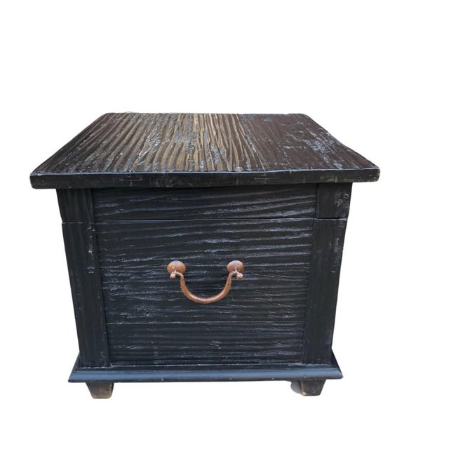 Amazing pair of antique storage trunks that can used as side tables. The wood is so soft to touch. They open very well and...