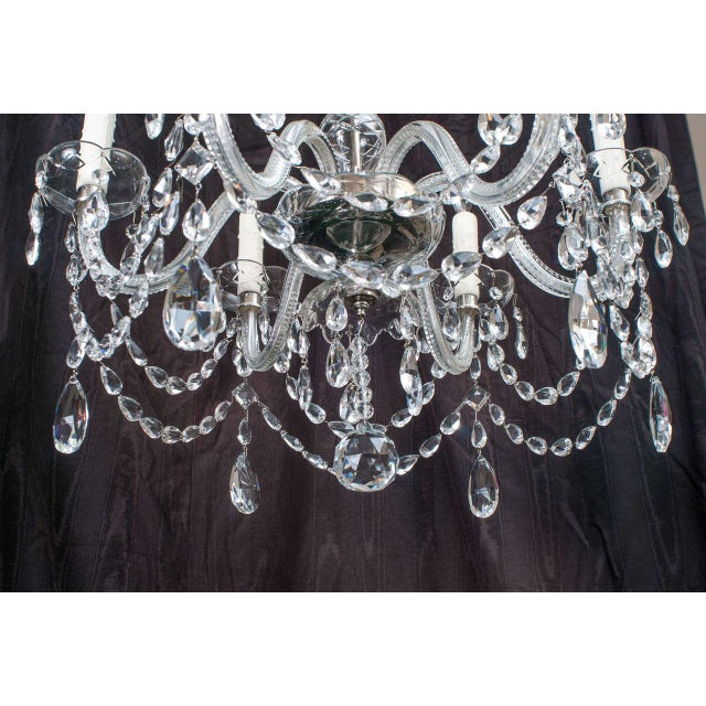 Neoclassical Style Crystal Chandelier For Sale - Image 9 of 11
