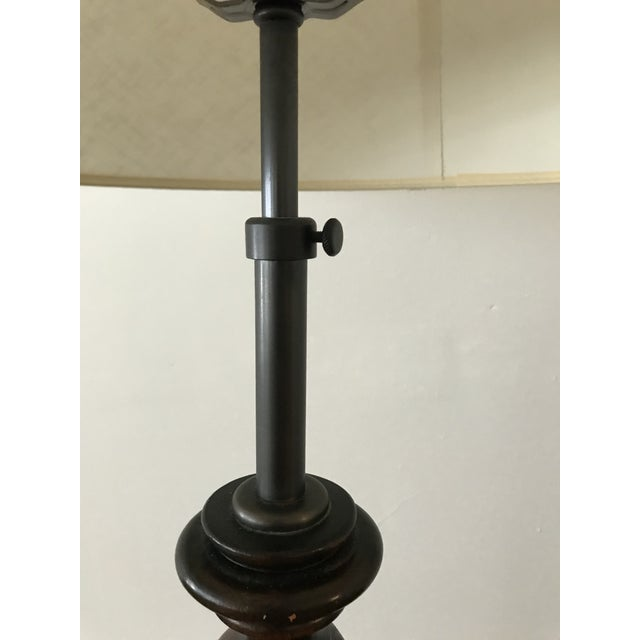 Traditional Vintage Adjustable Barley Twist Table Lamp With Shade For Sale - Image 3 of 12