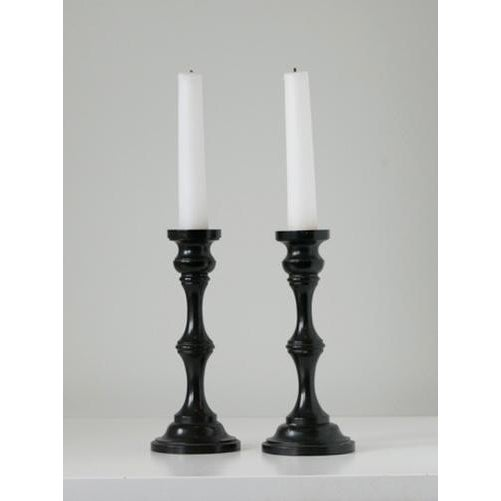1940s 1940s Pair of Ebony Candlesticks For Sale - Image 5 of 5