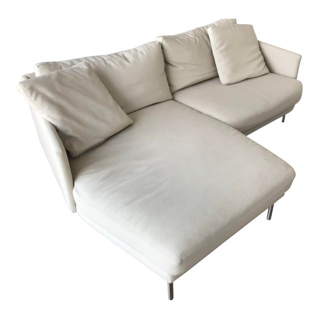 Modern Design Within Reach Camber Compact Sectional Sofa For Sale