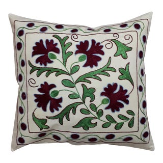 Green Red Pomegranate Design Crochet Pillow Cover For Sale