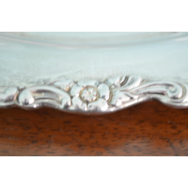 Vintage Val St-Lambert Cordial Glasses & Drinks Tray, 7 Pieces For Sale - Image 4 of 10