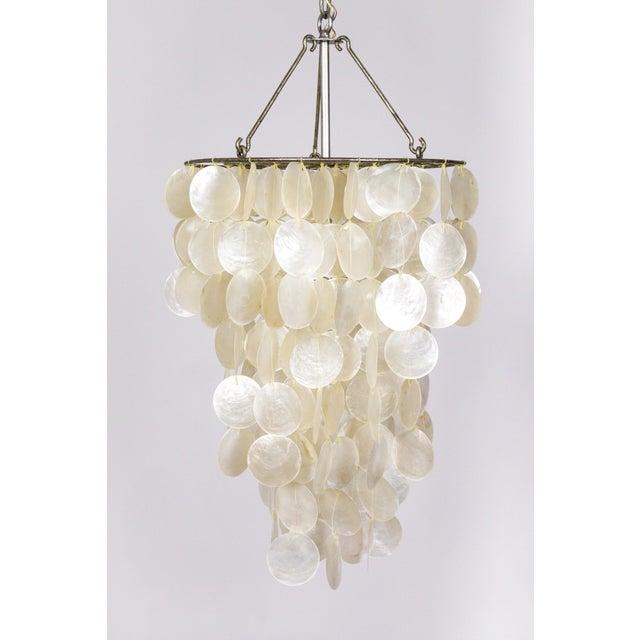 Fine Cascading Capiz Shell Pendant For Sale - Image 9 of 9