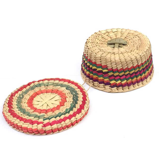 Multicolored Woven Baskets - Set of 3 For Sale In Seattle - Image 6 of 8