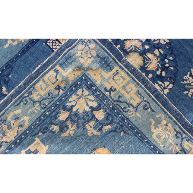 Early 20th Century Antique Chinese Peking Rug-5' X 7'9 For Sale - Image 5 of 7