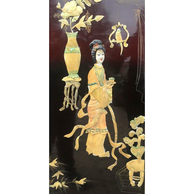 Asian Lacquered Mother of Pearl Screen For Sale In Los Angeles - Image 6 of 8