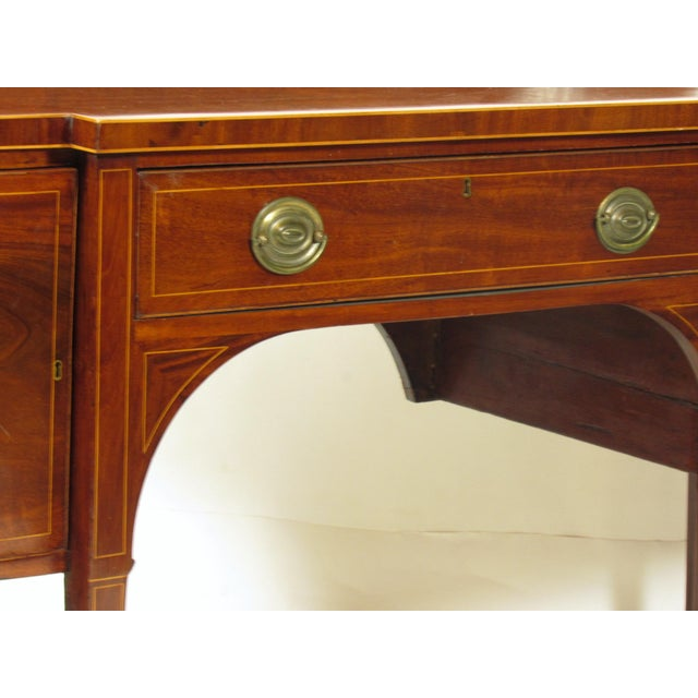 Gold 18th Century George III Inlaid Sideboard For Sale - Image 8 of 10