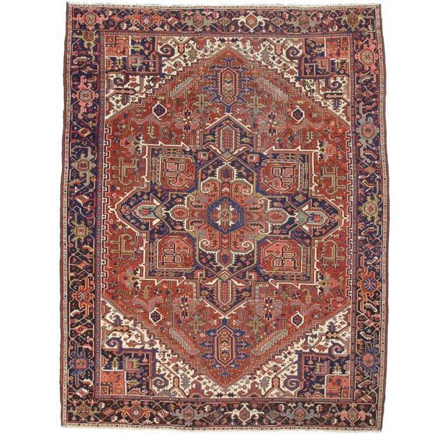 Rugsindallas Antique Persian Karajeh Rug - 9′2″ × 10′ For Sale