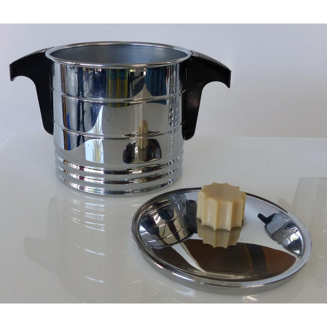 Chrome 1960s Vintage General Electric Chrome Coffeemaker, Cream & Sugar - Set of 3 For Sale - Image 7 of 12