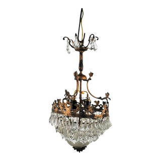 Antique Bronze Wedding Cake Crystal Chandelier