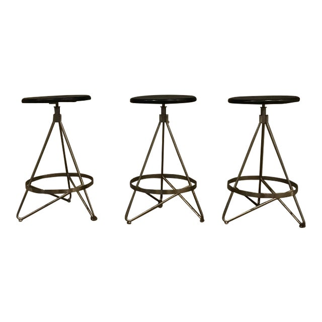 Arteriors Wyndham Counter Stools - Set of 3 For Sale