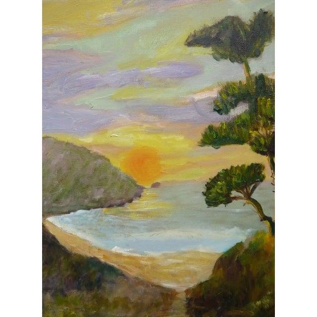 Sunset in Monterrey, CA Plein Air Painting - Image 3 of 4