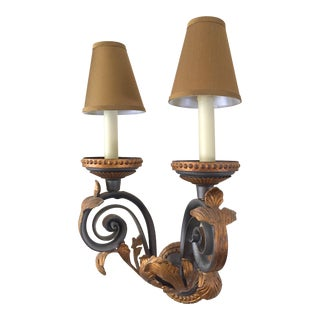 Art Nouveau Bronzed Iron Wall Sconce