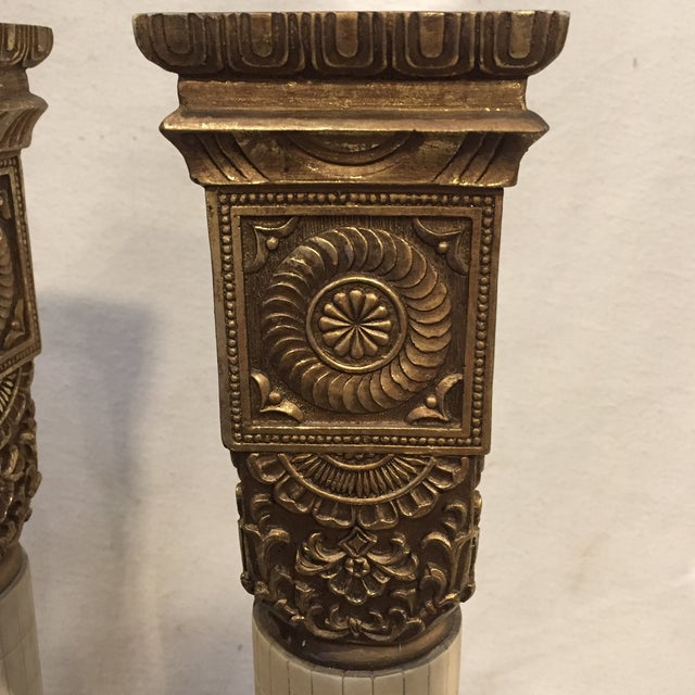 Grand Tour Tall Greco-Roman Candle Holders - a Pair For Sale - Image 3 of 10