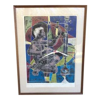 Mid-Century Signed Hans Erni Lithograph