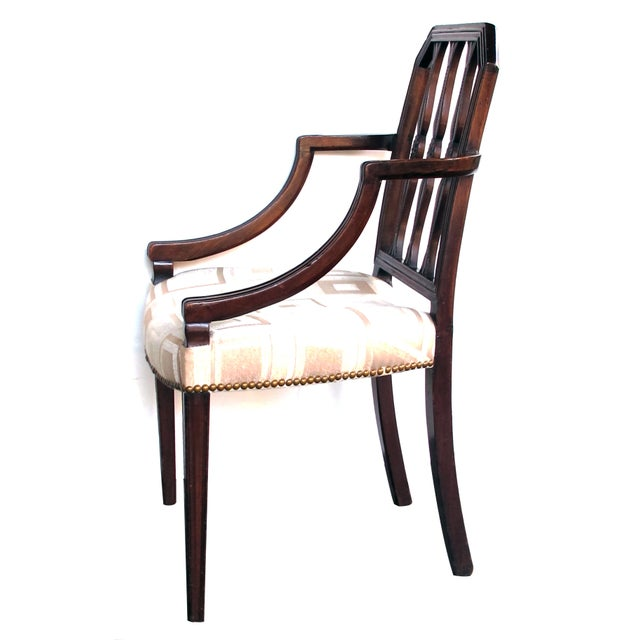 English A Handsome English George III Sheraton Mahogany Arm Chair For Sale - Image 3 of 7