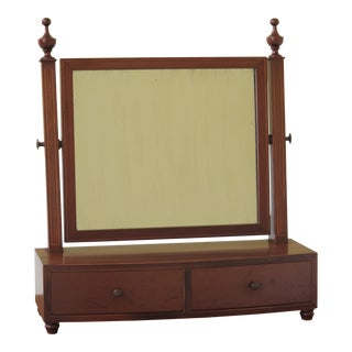 1960s Federal Biggs 2 Drawer Inlaid Mahogany Dressing Shaving Mirror For Sale