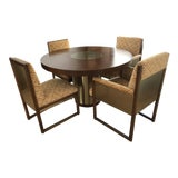 Image of 1977 Mount Airy Furniture Company Dining Room Table and Chairs - Set of 4 For Sale