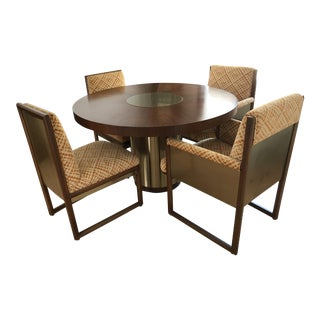 1977 Mount Airy Furniture Company Dining Room Table and Chairs - Set of 4 For Sale