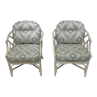 Wicker and Bamboo Chippendale Chairs - a Pair For Sale