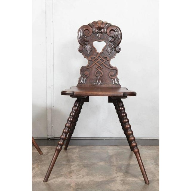 Early 19th Century Austrian Hall Chairs - A Pair For Sale - Image 5 of 5
