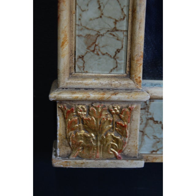 Vintage Gilt Trumeau Mirror For Sale - Image 9 of 9