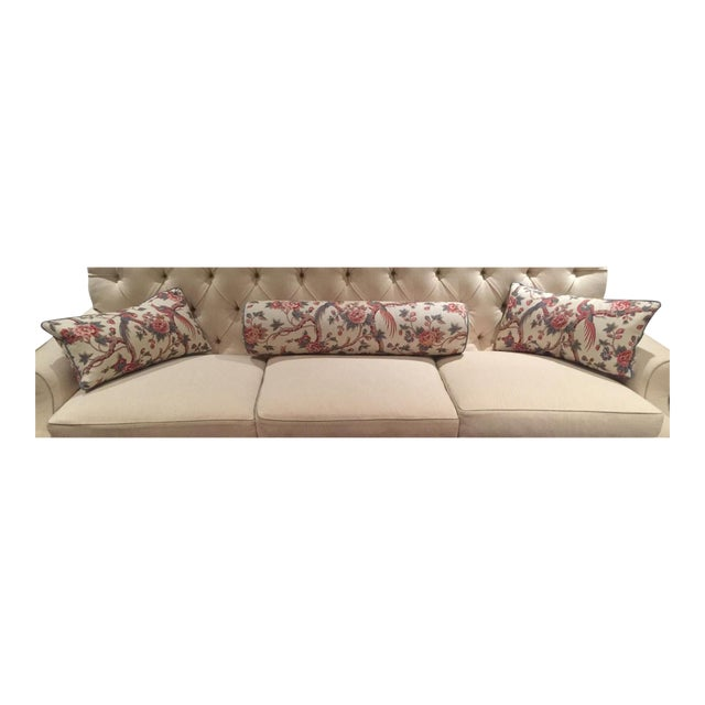 Bennison Floral Bolster and Knife-Edge Pillows - Set of 3 For Sale - Image 7 of 7