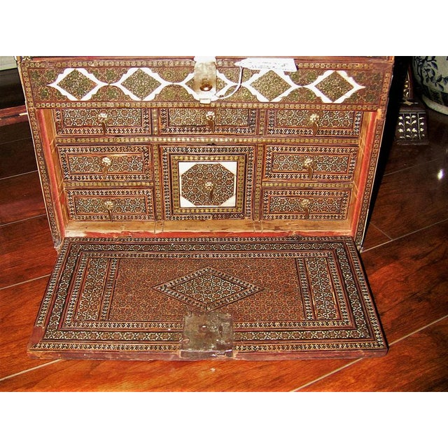 18c Indo Portugese or Persian Vargueno Mini Cabinet For Sale - Image 10 of 13